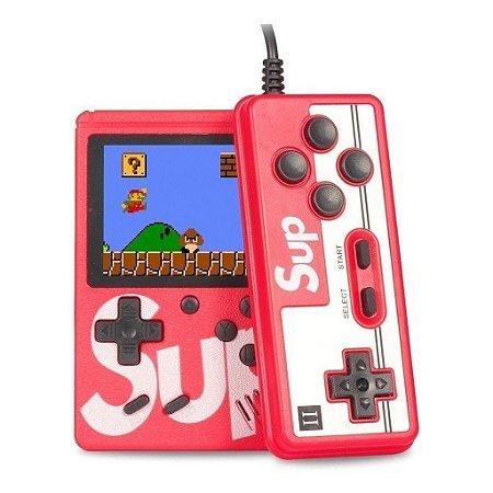 Video Game Portátil Retrô Sup com 400 Jogos Clássicos e Controle - Cor à Escolha