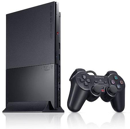 PlayStation 2 Slim Destravado Com 1 Controle Knup (usado)
