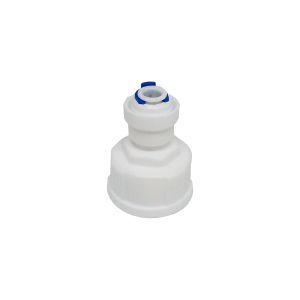 """Conexão reta fêmea engate rápido rosca 3/4"""" para tubo 1/4"""" - Planeta Água"""