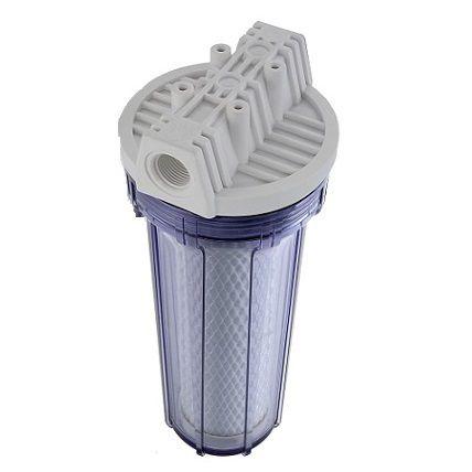 "Filtro para Bebedouro / Pia Transparente 9.3/4"" Ponto de Uso Carbon da Hidro Filtros"
