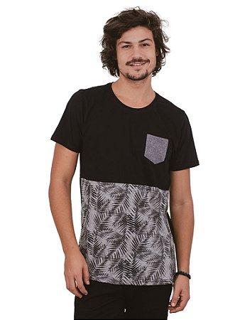 Camiseta Folhagem Cinza