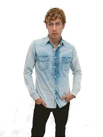 Camisa Jeans Light Blue