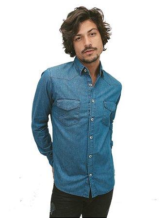 Camisa Jeans Deep Blue