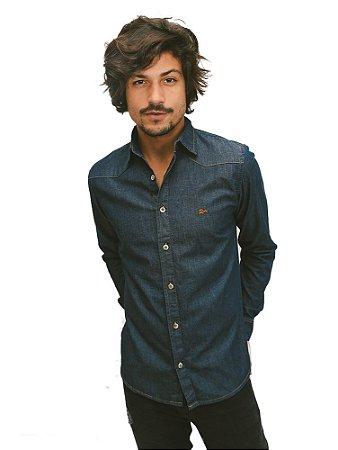 Camisa Jeans Dark Blue