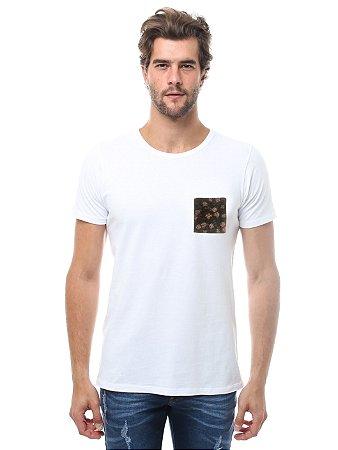 Camiseta Bolso Roseira Mini Branco