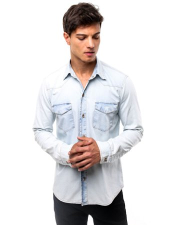 Camisa Jeans Winter Light Blue
