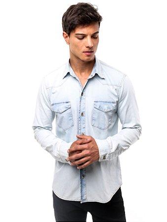Camisa Jeans Winter Light Blue