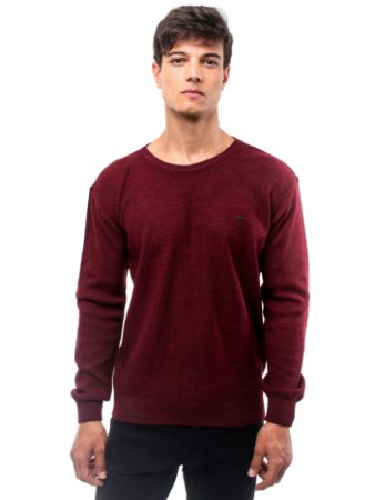 Suéter London Basic Bordô