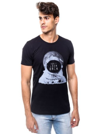 Camiseta Don't Look Back Preto