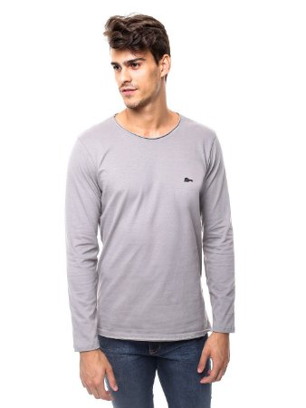 Camiseta Cotton Winter Gray Style