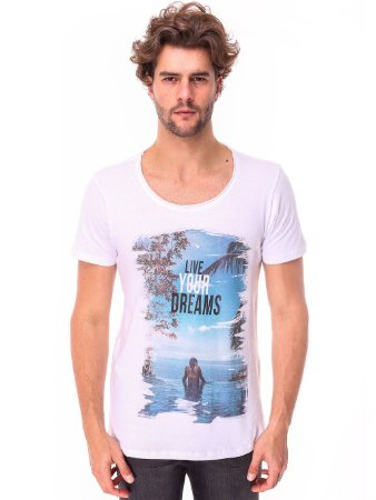 Camiseta Live Your Dreams Cavada