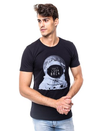 Camiseta Don't Look Back Preto Egypt