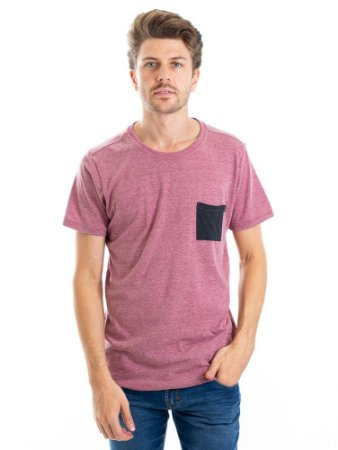 Camiseta Pocket Bordô