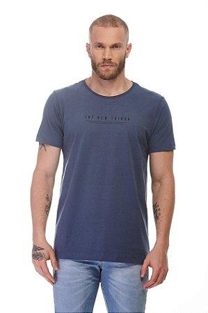 Camiseta Try New Things Azul