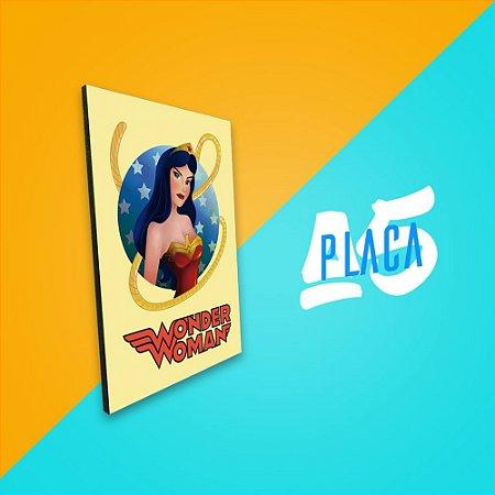 Placa A5 - Wonder Woman