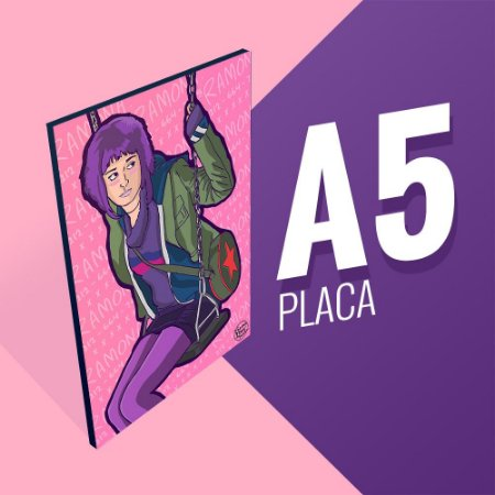 Placa A5 - Ramona Flowers