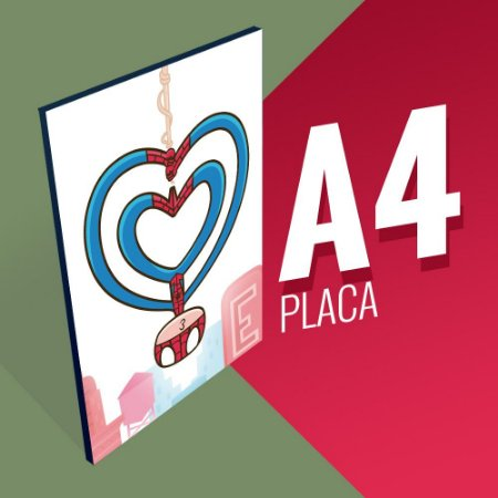 Placa A4 - SpiderKiss