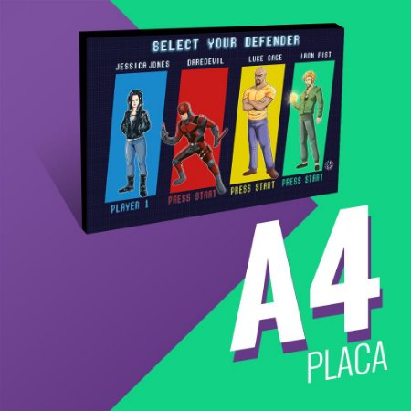 Select your Defender - Placa a4