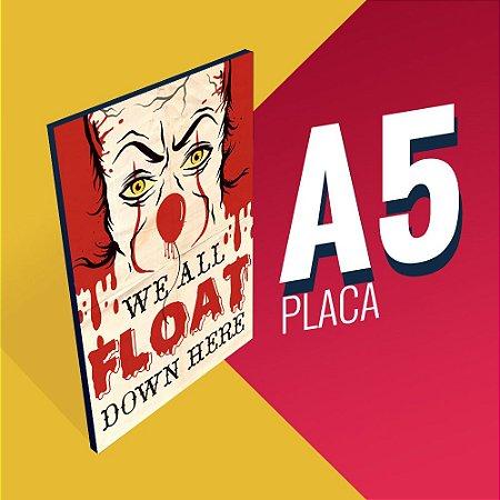 Placa A5 - Coleção It - Pennywise