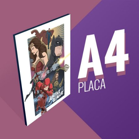 Placa A4 - Justice  League