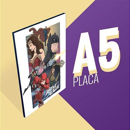 Placa A5 - Justice League