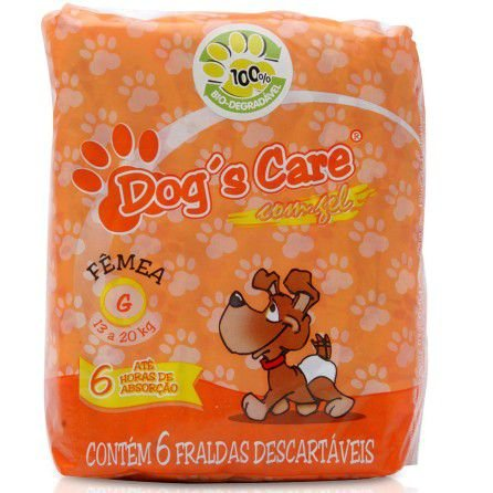FRALDA HIGIENICA FEMEA TAMANHO G - 6 UNIDADES - DOGS CARE