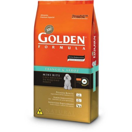 GOLDEN CÃO ADULTO MINIBITS SALMÃO 3KG