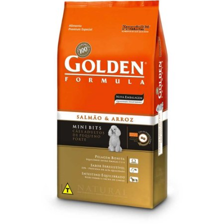GOLDEN CÃO SALMAO MINIBITS ADULTO 15KG
