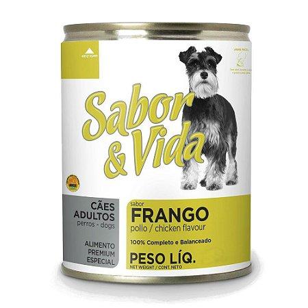 SABOR E VIDA  FRANGO E ESPINAF CÃES ADULTO LT 280G