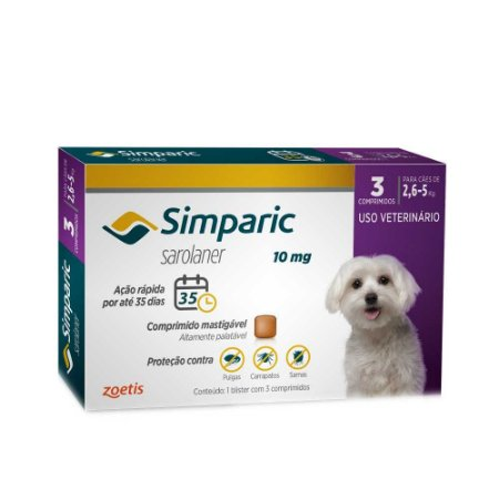SIMPARIC 10MG 2,6-5 KG 3comp.