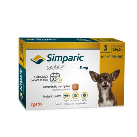 SIMPARIC 5MG 1,3- 2,5KG 3comp.