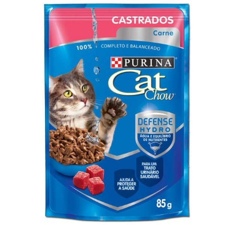 CAT CHOW SACHE Castrados Carne ao Molho 85G