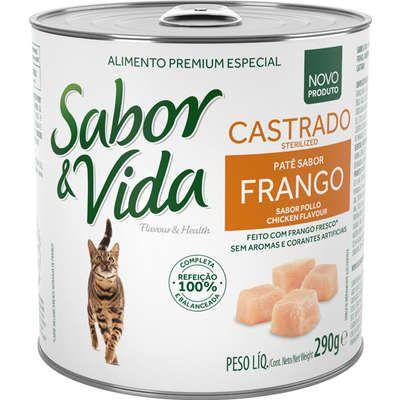 SABOR E VIDA GATO CASTRADO FRANGO LATA  290GR