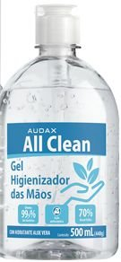 ALCOOL GEL 70.INPM AUDAX 500ML