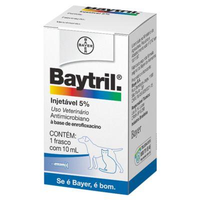 BAYTRIL INJETAVEL 5% - 10ML PET