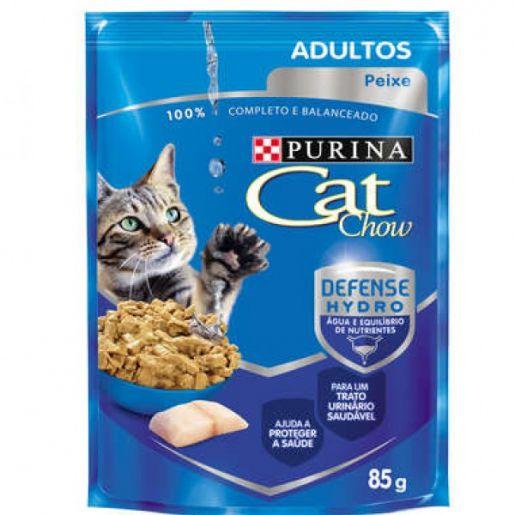 CAT CHOW Sache Adultos Peixe ao molho 85g