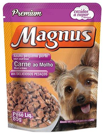 Magnus Sache Premium Cães Adultos Pequeno Porte Sabor Carne ao Molho 40G