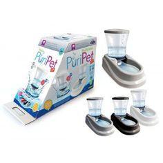 Bebedouro Automático Pet Injet com Filtro Puripet Preto - 4 Litros