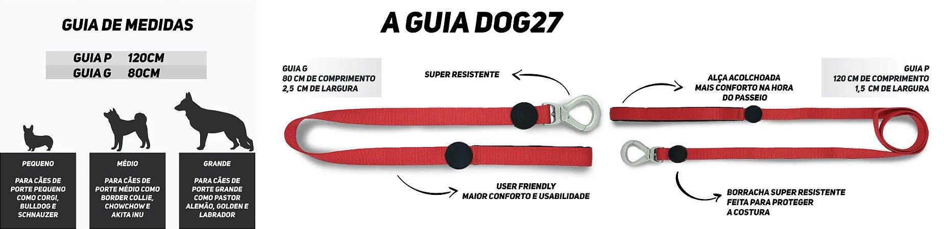 GUIA PARA CACHORROS DOG27 TROPICAL TAMANHO P