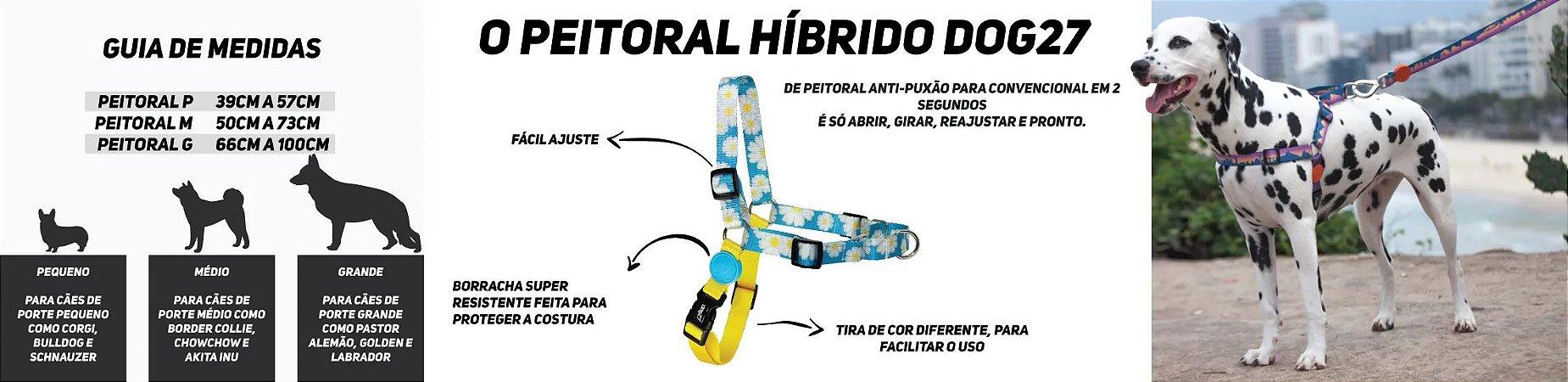 PEITORAL PARA CACHORROS DOG27 TROPICAL - TAMANHO G