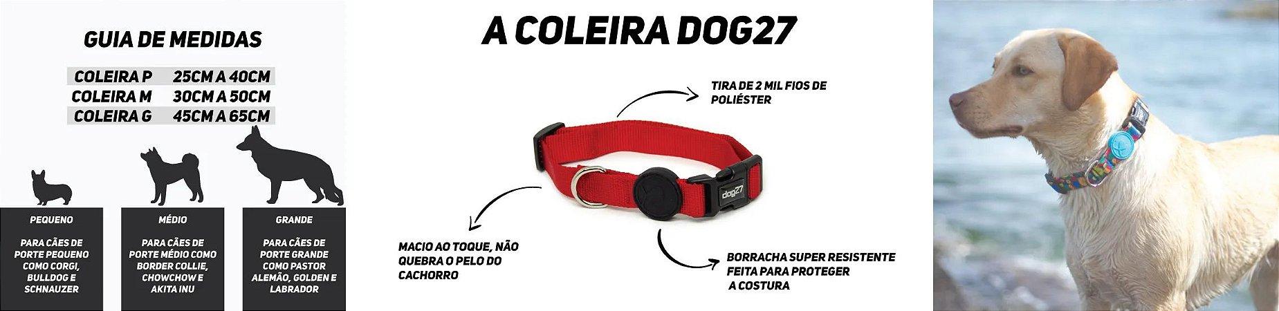 COLEIRA PARA CACHORROS DOG27 DAISY - TAMANHO M