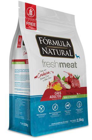 FORMULA NATURAL FRESH MEAT CORDEIRO MINI/PQ 2,5KG