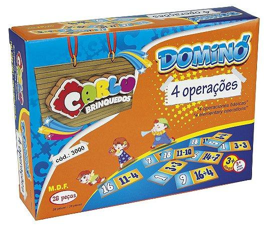 Dominó Quatro Operações - Dominó Matemática