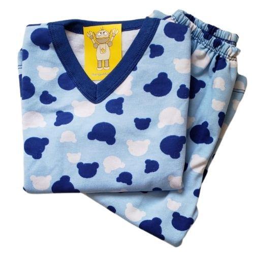 Pijama Infantil Flanelado - 1 ao 3 - Ursinho Royal