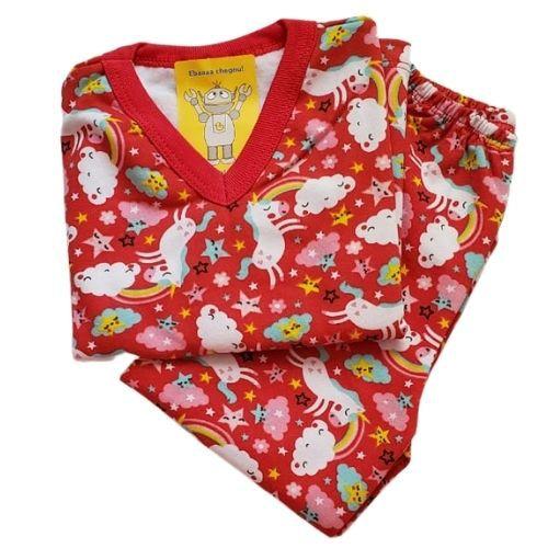 Pijama Infantil Flanelado - 4 ao 8 - Unicornio