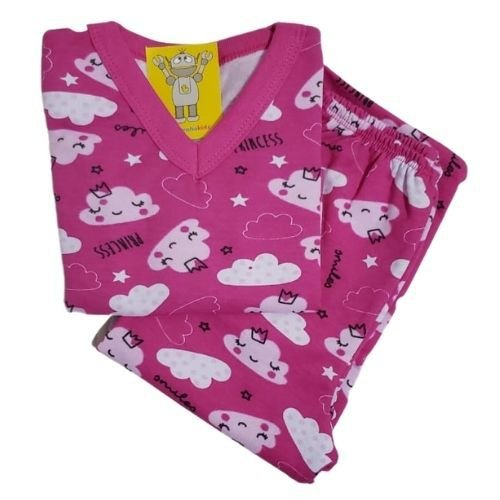 Pijama Infantil Flanelado - 4 ao 8 - Sonho de Princesa