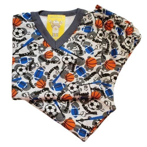 Pijama Infantil Flanelado - 1 ao 3 - Esportes