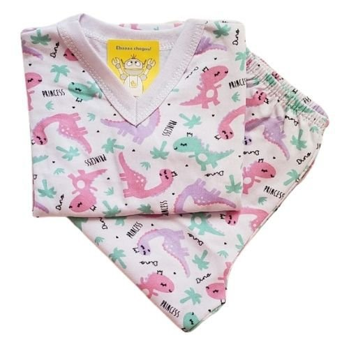 Pijama Infantil Flanelado - 4 ao 8 - Dinos Candy