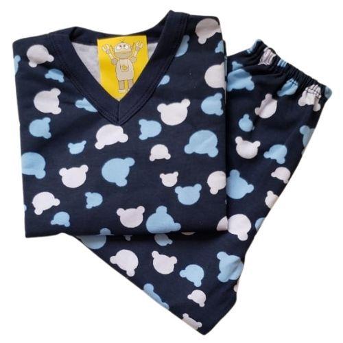 Pijama Infantil Flanelado - 4 ao 8 - Ursinho Marinho