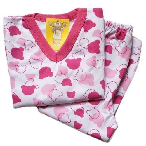 Pijama Infantil Flanelado - 4 ao 8 - Ursinho Candy